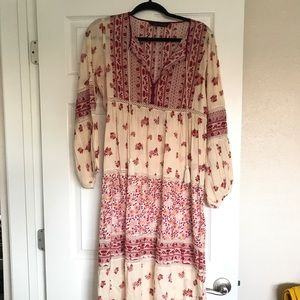Zara peasant maxi dress